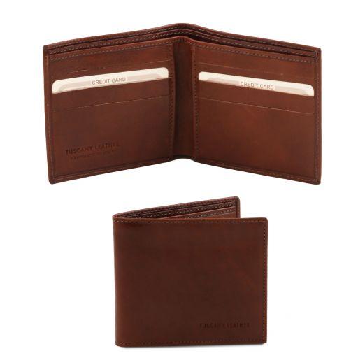 Exklusive Herren Geldbörse aus Leder mit 2 Scheinfächern Braun TL140797