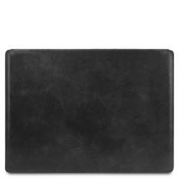 Leather desk pad with inner compartment Black TL142054