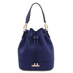 TL Bag Leather bucket bag Dark Blue TL142146