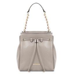 TL Bag Soft leather bucket bag Grey TL142134
