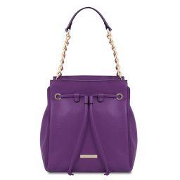 TL Bag Beuteltasche aus weichem Leder Purple TL142134