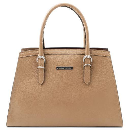 TL Bag Leather handbag Champagne TL142147