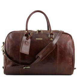 TL Voyager Travel leather duffle bag Brown TL141218