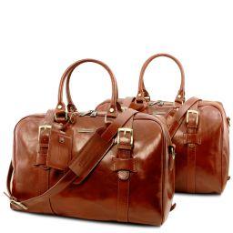 Vespucci Set de voyage en cuir Miel TL141257