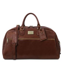 TL Voyager Leather travel bag - Large size Brown TL141422