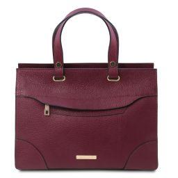 TL Bag Leather handbag Bordeaux TL142079