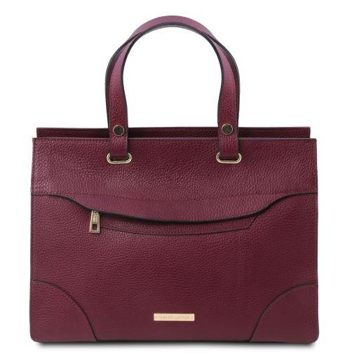 TL Bag Borsa a mano in pelle Bordeaux TL142079