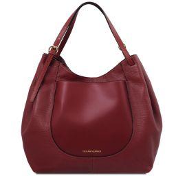 Cinzia Borsa shopping in pelle morbida Rosso TL142144