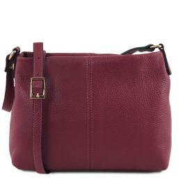 TL Bag Soft leather shoulder bag Bordeaux TL141720