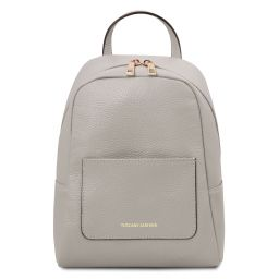 TL Bag Small soft leather backpack for women Light grey TL142052