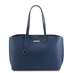 TL Bag Leather shopping bag Dark Blue TL141828