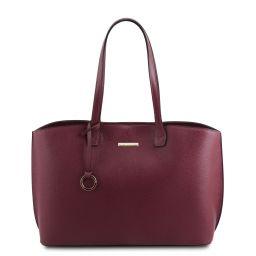 TL Bag Bolso shopping en piel Bordeaux TL141828