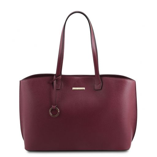 TL Bag Borsa shopping in pelle Bordeaux TL141828