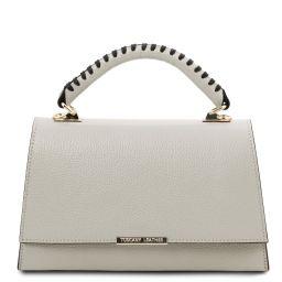 TL Bag Leather handbag Light grey TL142111