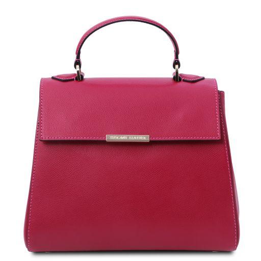 TL Bag Small leather duffel bag Fuchsia TL142051