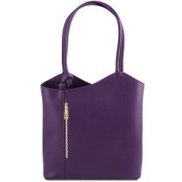 Patty Saffiano leather convertible bag Purple TL141455