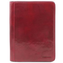 Lucio Exclusif porte-document en cuir avec anneaux Rouge TL141293