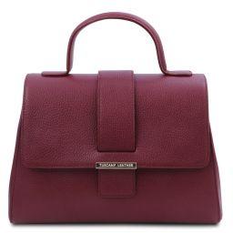 TL Bag Handtasche aus Leder Bordeaux TL142156