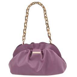 TL Bag Pochette in pelle morbida con tracolla a catena Lilla TL142184