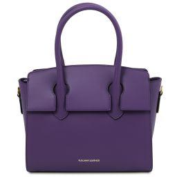 Brigid Leather handbag Фиолетовый TL141943
