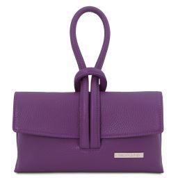 TL Bag Clutch aus Leder Purple TL141990