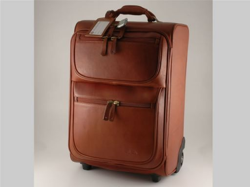 Los Angeles Leather travel trolley Brown FC14446