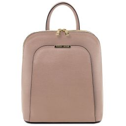 TL Bag Saffiano leather backpack for women Nude TL141631