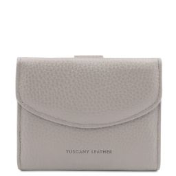 Calliope Exclusive 3 fold leather wallet for women with coin pocket Светло-серый TL142058