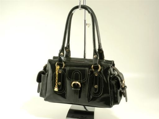 Dalila Lady bag in Bycast leather Forest Green TL100463