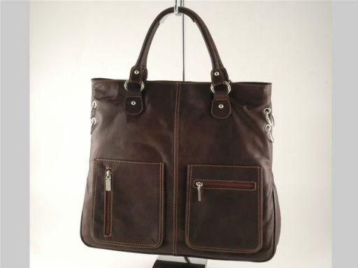 Camilla Borsa Shopping Grande in pelle Testa di Moro TL140491