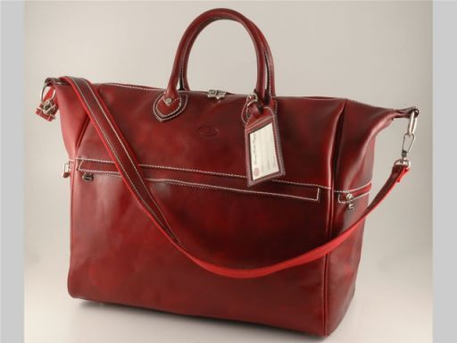 Dublin Travel leather bag Red TL140502