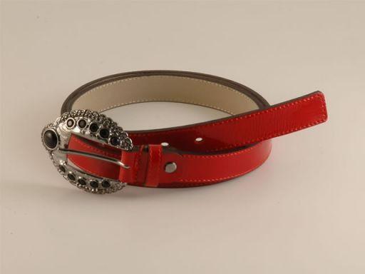 Esclusiva cintura in pelle Rosso TL140540